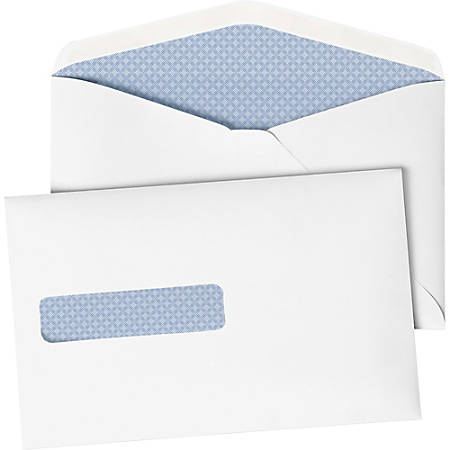 "Quality Park Postage Saving Window Envelopes - Booklet - #10 1/2 - 9 1/2"" Width x 6"" Length - Gummed - Paper - 500 / Box - White"