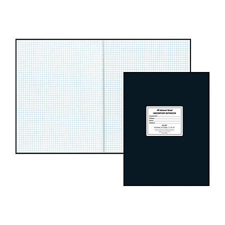 Rediform National Laboratory Notebook, Letter Size, Quadrille Ruled, 120 Pages (60 Sheets), Black