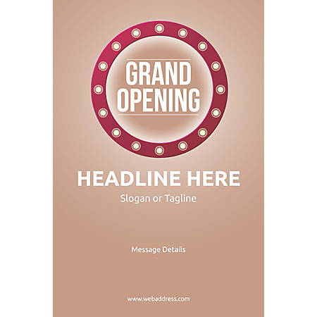 Custom Poster, Retro Grand Opening, Vertical