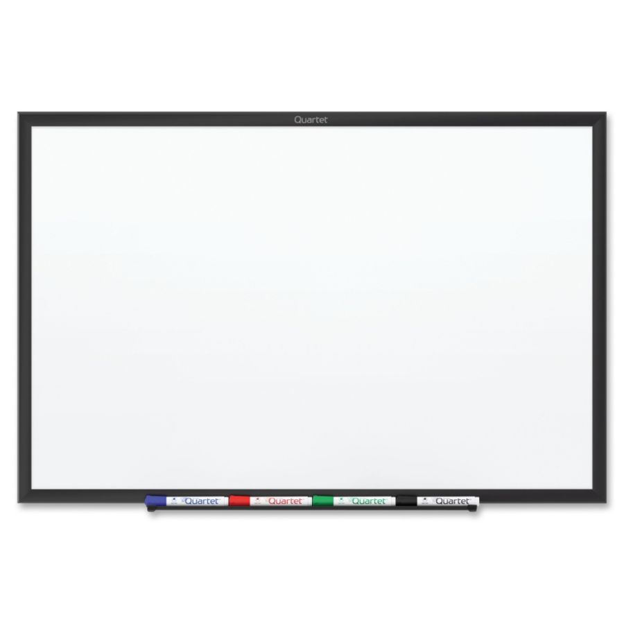Quartet Cl Ic Magnetic Whiteboard 96 8 Ft Width X 48 4 Ft Height White Painted Steel Surface Black Aluminum Frame Horizontalvertical 1 Each Taa Compliant
