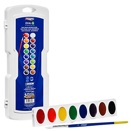 Prang® Watercolor Oval Set Without Brush, Assorted, Set Of 16 Colors