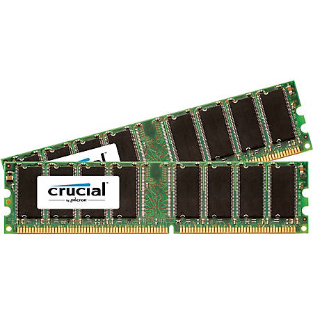 Crucial 1GB 2 X 512 MB DDR SDRAM Memory Module By Office Depot