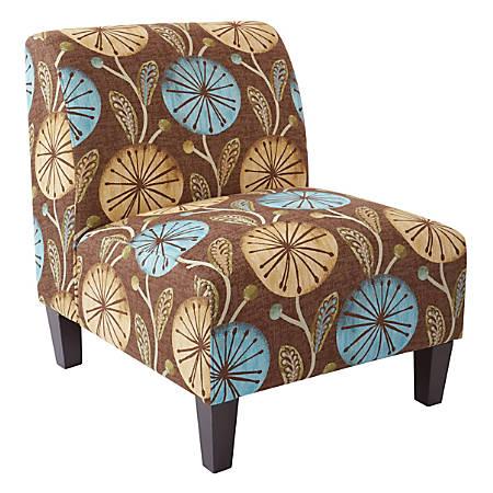 Ave Six Magnolia Accent Chair, Dandelion Aqua/Black