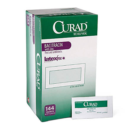 CURAD® Bacitracin Ointment, 0.03 Oz, Pack Of 1,728