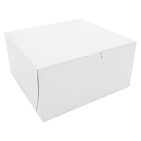 "SCT® Bakery Boxes, Non-Window, 8"" x 6"" x 4"", White, Pack Of 250 Boxes"