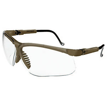 Genesis Eyewear, Clear Lens, Polycarbonate, Uvextreme, Earth Brown Frame