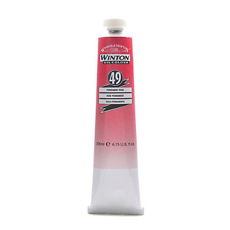 Winsor & Newton Winton Oil Colors, 200 mL, Permanent Rose, 49