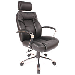 comfort products commodore ii big tall leather chair black by office