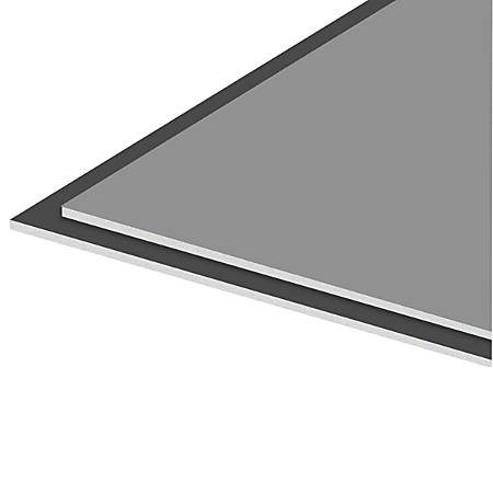 "Royal Brites Two Cool Colors Foam Board, 20"" x 30"", Gray/Charcoal, Case Of 5"