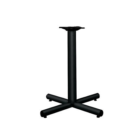 "HON® Single-Column Table Base For 30""-36"" Tops, Black"