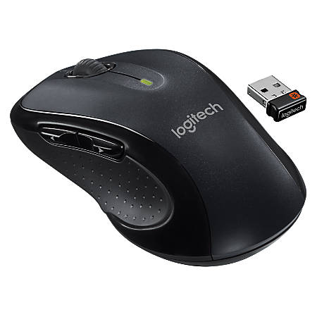 77eaf60cca0 Logitech M510 Wireless Laser Mouse grayblack - Office Depot