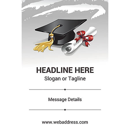 Custom Poster, Graduation Hat and Certificate, Vertical