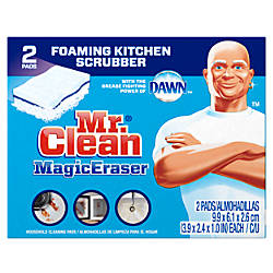 Mr. Clean® Magic Erasers Kitchen Scrubbers With Dawn, Pack Of 2 Item# 262474 at Office Depot in Cypress, TX | Tuggl