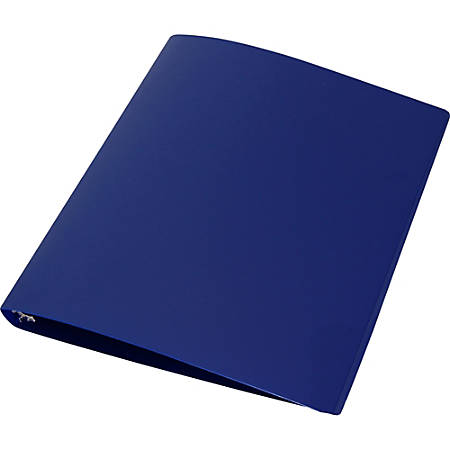"Samsill Round Ring 1"" Poly Binder - 1"" Binder Capacity - Letter - 8 1/2"" x 11"" Sheet Size - 3 x Round Ring Fastener(s) - Poly - Blue - 1 Each"