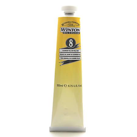 Winsor & Newton Winton Oil Colors, 200 mL, Cadmium Yellow Pale Hue, 8