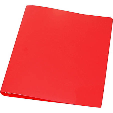 """Samsill Poly Binder, 1"""" Rings, Red"""