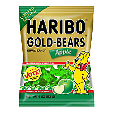 Haribo Apple Gold Bears 4 Oz