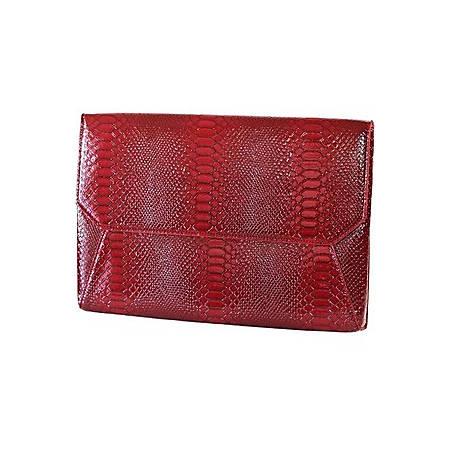"Francine Collections 9.7"" Red Snake Skin Tablet Sleeve"