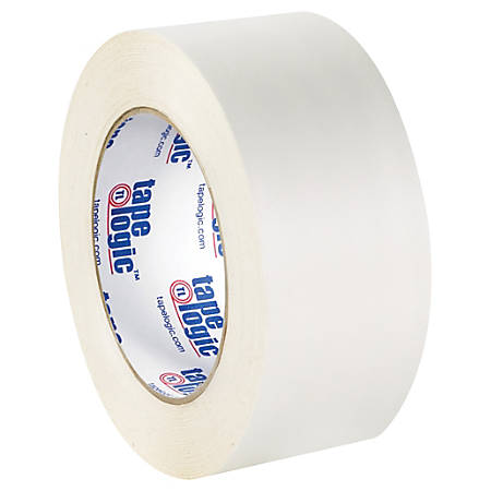 """Tape Logic® Double-Sided Film Tape, 3"""" Core, 2"""" x 180', White, Pack Of 2"""