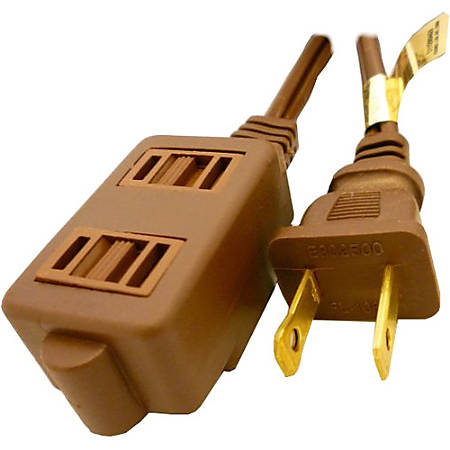 Professional Cable Power Extension Cord - Brown