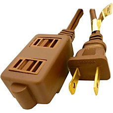 Professional Cable Power Extension Cord Brown