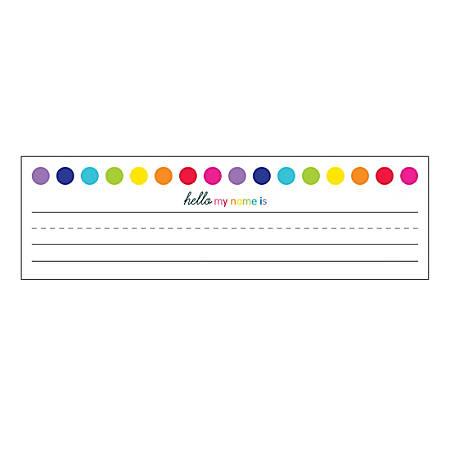 "Schoolgirl Style Desk Nameplates, 9-1/2"" x 2-7/8"", Just Teach, Pack Of 36 Nameplates"