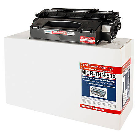 MicroMICR THN-53X (HP Q7553X) High-Yield Black MICR Toner Cartridge