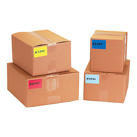 """Tape Logic® Removable Write™On Rectangle Inventory Label Roll, DL635A, 6"""" x 4"""", Red, Roll Of 500"""