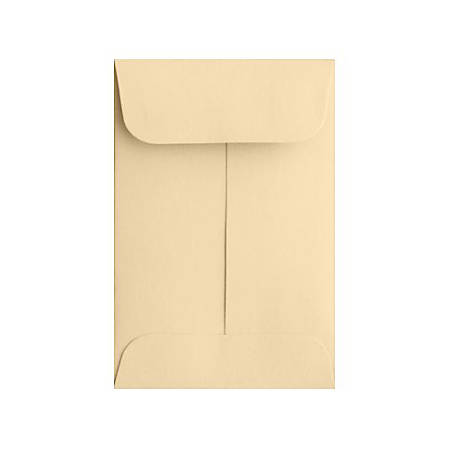 """LUX Coin Envelopes, #1, 2 1/4"""" x 3 1/2"""", Nude, Pack Of 500"""