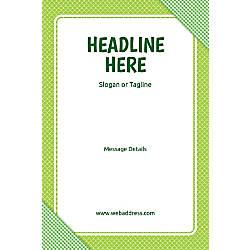 Adhesive Sign Green Checks Vertical