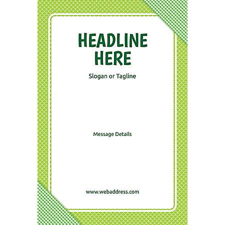 Adhesive Sign, Green Checks, Vertical