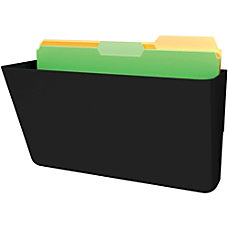 Deflecto Sustainable DocuPocket Letter Black 1