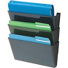 deflecto Recycled DocuPocket Wall Files Letter