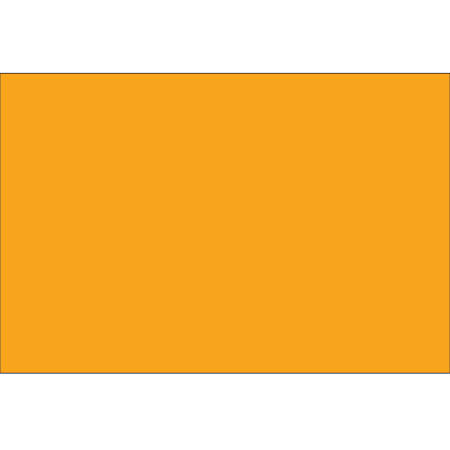 """Tape Logic® Write™On Rectangle Inventory Label Roll, DL634H, 10"""" x 3"""", Fluorescent Orange, Roll Of 250"""