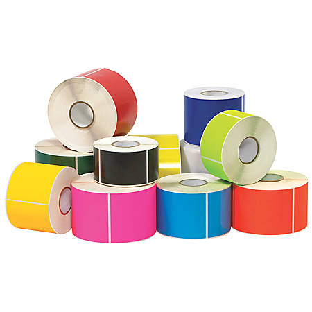 """Tape Logic® Write™On Rectangle Inventory Label Roll, DL635H, 6"""" x 4"""", Fluorescent Orange, Roll Of 500"""