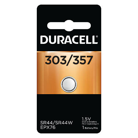 Duracell® D303/357PK Silver Oxide Button Cell General Purpose Battery