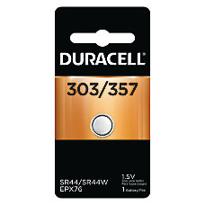 Duracell D303357PK Silver Oxide Button Cell