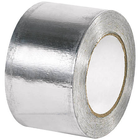 "B O X Packaging Industrial Aluminum Foil Tape, 3"" Core, 3"" x 60 Yd., Silver, Case Of 12"