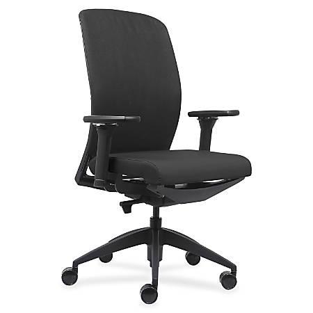 Lorell™ Executive High-Back Swivel Chair, Black