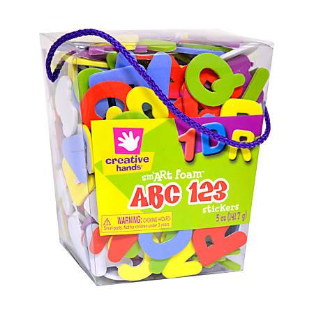 Creative Hands Glitter Sticker Bucket ABCs