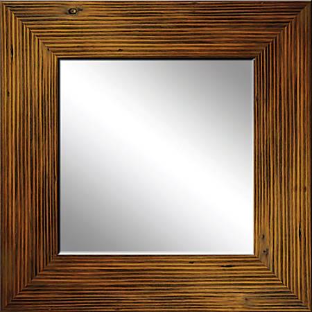 "PTM Images Framed Mirror, Wood, 20""H x 20""W, Natural"