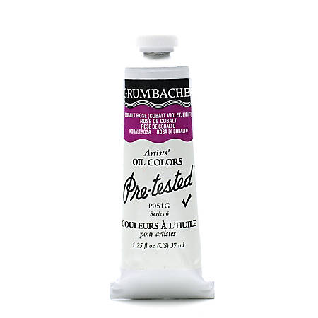 Grumbacher P051 Pre-Tested Artists' Oil Colors, 1.25 Oz, Cobalt Rose