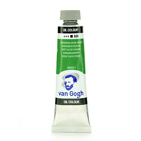 Van Gogh Oil Colors, 1.35 oz, Chrome Oxide Green, Pack Of 2