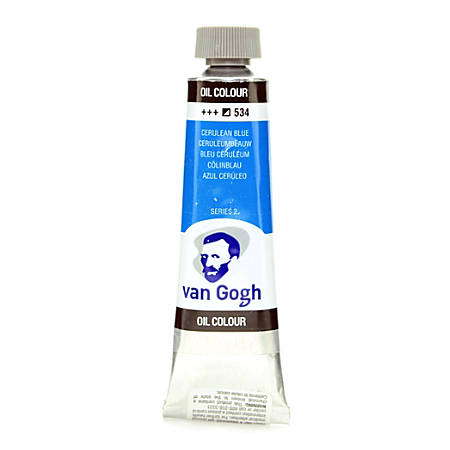 Van Gogh Oil Colors, 1.35 oz, Cerulean Blue, Pack Of 2