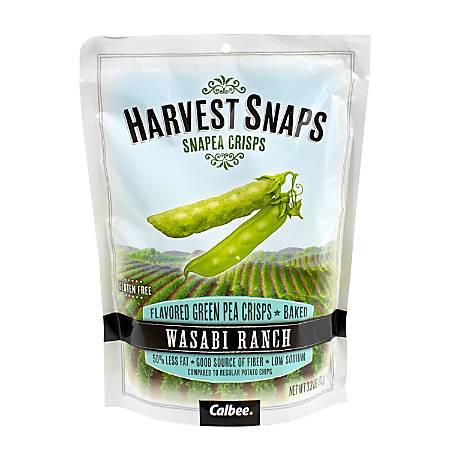 Harvest Snaps Snapea Crisps, Wasabi Ranch, 3.3 Oz Pouch