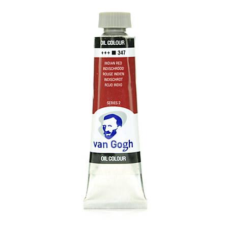 Van Gogh Oil Colors, 1.35 oz, Indian Red, Pack Of 2