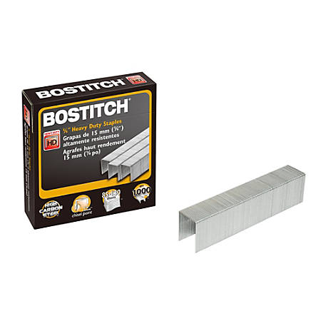 "Bostitch® Premium Heavy Duty Staples, 5/8"" Full Strip, Box Of 1,000"