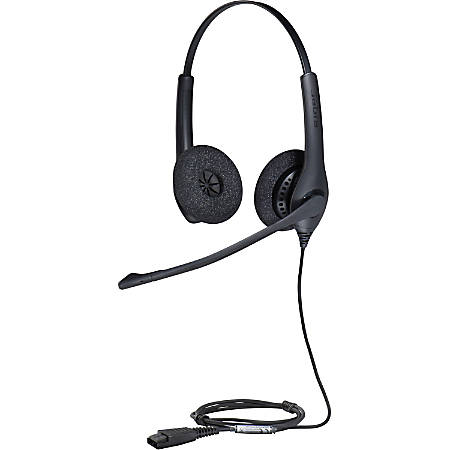 Jabra BIZ 1500 Headset - Stereo - Quick Disconnect - Wired - 150 Ohm - 20 Hz - 4.50 kHz - Over-the-head - Binaural - Supra-aural - 3.12 ft Cable - Noise Canceling