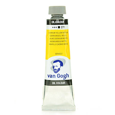 Van Gogh Oil Colors, 1.35 oz, Cadmium Yellow Medium, Pack Of 2