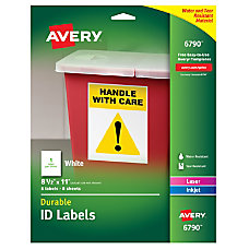Avery Durable Permanent ID Labels AVE6790